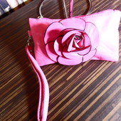 Косметичка-сумочка Роза, мягкий качественный кожзам