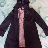 Женское весеннее пальто с капюшоном на молнии.размер14