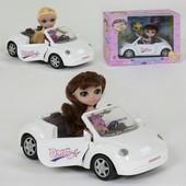 Кукла с машинкой , питомец, аксессуары, в коробке, багато якісних і красивих іграшок