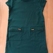 Платье изумрудного цвета jbc на рост 104 см в идеале