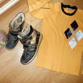 высокие кроссовки на липучках + фирменный реглан 140р