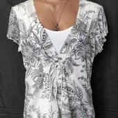 Лёгкая стрейчевая блузочка с трикотажной вставкой спереди,M&S,2xl/3xl