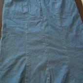 Удлинённая джинсовая