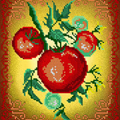"""Схема для вишивки натюрморт """"Овочі-посідор"""" як варіант вишивка для кухні"""