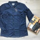 Джинсовая стильная рубашка от Esmara Cherokee р.42 евро