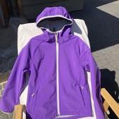 Курточка софтшел на флисе для девочки