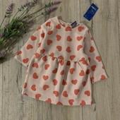 Утеплённое платье для девочки 2-6 месяцев. Новое.