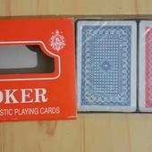 Карты игральные в лоте 2 колоды 100% пластик