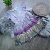 Стоп! Очень красивое нежное платье шифон идеальное состояние
