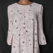 Пудровая блузочка,100% вискоза, Турция, грудь-96