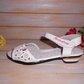 Белые нарядные босоножки для девочки р27 ТМ Kella