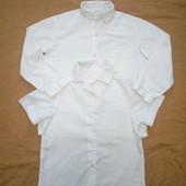 Две белоснежные рубашки на 4-6 лет одним лотом!!! Замеры!!!
