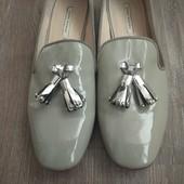 Туфли мокасины Zara. Цвет серый