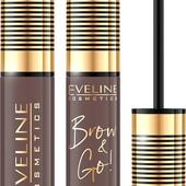 Тушь для бровей Eveline brow & go! Eyebrow mascara, 03 тон