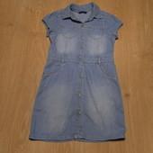 Джинсовое платье-рубашка George состояние очень хорошее