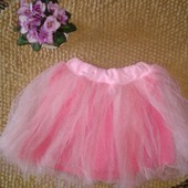 Фатиновая розовая юбочка на 4-5 лет