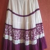 Яркая лёгкая летняя многоярусная юбка Klass Collection