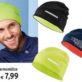 Теплая защитная термо шапка на байке Tchibo(германия) размер универсальный, лот 1 шт= лимон