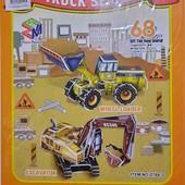 """Классная игрушка 3d пазлы-конструктор """"Трактор"""". Много интересных лотов)"""