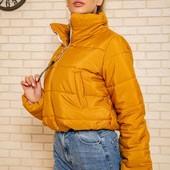 Офигенная стильная укороченные оверсайз куртка. Демисезон.