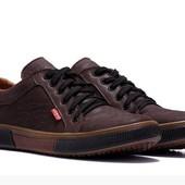 Кожаные мужские кеды кроссовки Levis 40-45 р-ры 2 цвета