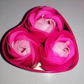 """Мыло """"Розы"""" в железной шкатулке - подарок женщине\маме\коллеге\девушке на 8 марта"""