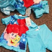 """74/80 Купальный комплект """"Русалочка"""" футболка и шорты для девочки, бирюзовый - Disney"""