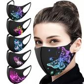 Продам маску Чисто черная или с принтами 1 шт в лоте или любое количество по своей ставке из остатв