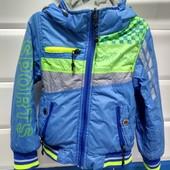 2 в 1 Куртка, которую можно носить с обеих сторон как куртку и как спортивную кофту. 2-4 года.