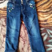 теплые джинсы для девочки.