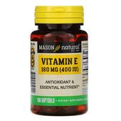 Витамин E, 180 мг (400 МЕ), 100 мягких таблеток