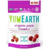 Органические леденцы ассорти YumEarth с витамином С, 40 леденцов, 241 г, Америка