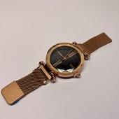 Женские часы Starry Sky Watch на магнитной застёжке, сетчатый металлический браслет, золотой,красный