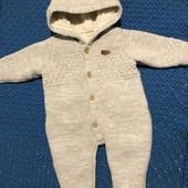 Дуже класний і теплий в'язаний комбінезон на 6 місяців зріст 68 см, носили з 2 до 6 місяців
