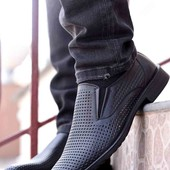 Стильные мужские туфли с перфорацией