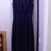 Очень красивое котоновое платье в пол, с карманами, немного стретч. Р-р 50-52. Состояние отличное.