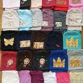 !!!стильные разные комплекты шапка и хомуток. Деми или утеплённые флисом, дети, подросток