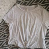 Очень приятная к телу белая футболка H&M. p. Xl.