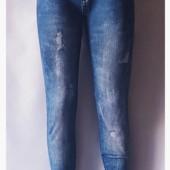 Демисезонные лосины отличного качества эмитация под джинсы!!Размер 48-50!!Укр почта 5% скидка