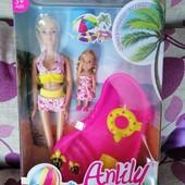 Набор Барби+дочка летнее купание