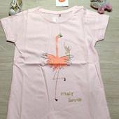 Польша!!! Бомбическая коттоновая футболка для девочки! 116 рост! 429 грн!