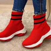 Текстильные кроссовки-носки
