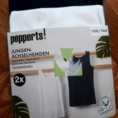 Комплект маек (белая+темно-синяя) Pepperts Германия. 158-164см. В упаковке!