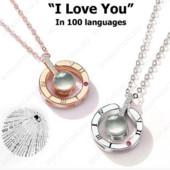 Кулон с проекцией я тебя люблю на 100 языках мира.Цвет: только под золото!!!Лот-один кулон.