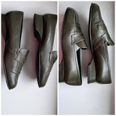 Кожаные натуральные туфли на низком ходу, 25,5 см