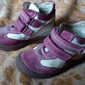 Деми ботинки на девочку, кожа