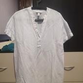 Лен+вискоза классная блуза H&M. из серии мама, можно не только беременным. р. М