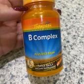 Комплекс витаминов группы B с рисовыми отрубями, 60 таблеток, США