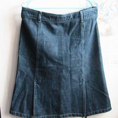 джинсовая юбка отличная евро 44 как новая