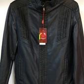 Куртка мужская демисезонная кожзаменитель 46р. Распродажа
